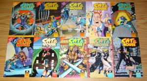 Cat & Mouse #1-18 VF/NM complete series - aircel comics - roland mann & byrd set