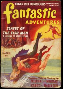 FANTASTIC ADVENTURES 1941 MAR-CARSON OF VENUS- ERB PULP VG
