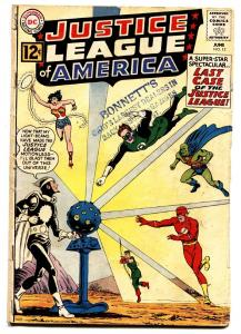 JUSTICE LEAGUE OF AMERICA #12-SUPERMAN-BATMAN-FLASH-WONDER WOMAN-1962 VG-