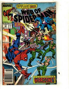 12 Web of Spider-Man Marvel Comics # 44 45 47 51 52 54 55 57 63 70 77 80 J332