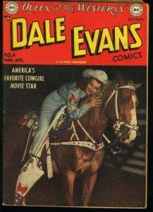 DALE EVANS COMICS #4-PHOTO COVER-ALEX TOTH ART VG+