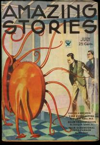 AMAZING STORIES 1934 JUL-EARLY SCIENCE FICTION PULP FN