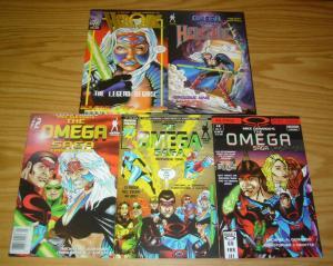 Mike Gerardo's Omega Saga #0 & 1-3 VF/NM complete series + heroine #0 - signed