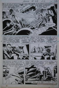 MIKE SEKOWSKY / GEORGE ROUSSOS original art, ATOM #38 pg 22, 1968, Invasion