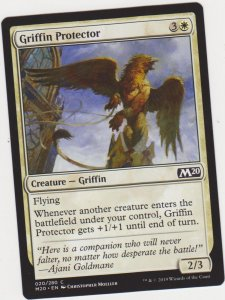 Magic the Gathering: Core Set 2020 - Griffin Protector