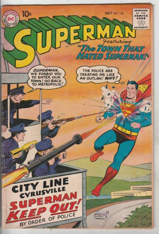 Superman #130 (Jul-59) VG/FN Mid-Grade Superman, Jimmy Olsen,Lois Lane, Lana ...