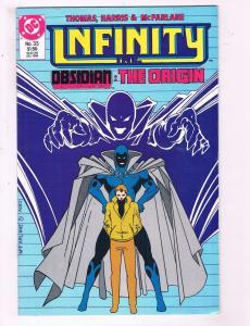 Infinity Inc. #33 VF DC Obsidian: The Origin Comic Book McFarlene 1986 DE14
