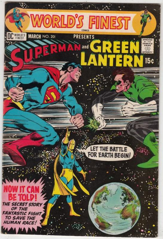 World's Finest #201 (Mar-71) NM- High-Grade Superman, Green Lantern