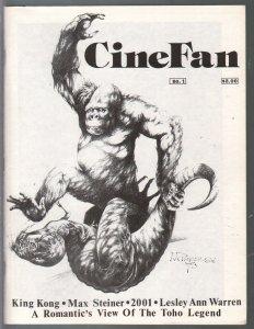 CineFan #1 7/1974-1st issue-King Kong-Lesley Ann Warren-2001-VF