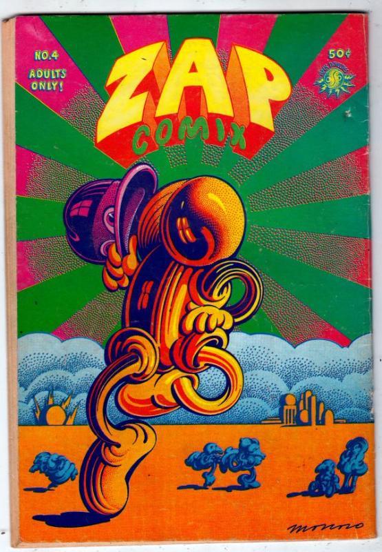 Zap #4 (Jan-68) VG/FN Mid-Grade Mr. Natural, Flakey Font, Wonder Wart-Hog, th...