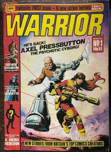 WARRIOR #1 (Quality,3/1982) VG 1st V for Vendetta, Miracle Man (aka Marvel Man)
