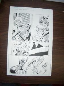 COMMON GROUNDS #3 PG 10-ORIGINAL COMIC ART--DAN JURGENS FN
