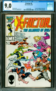 X-Factor #5 CGC Graded 9.0 1st app. of Apocalypse in cameo on last page. 1st ...