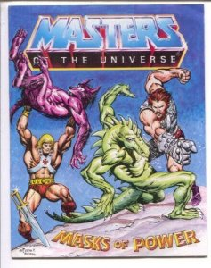Masters of the Universe 1983-Matel-promo comic-Masks of Power-Alfredo R Alc...