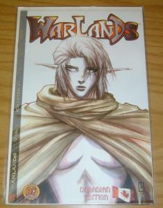 Warlands #1 VF/NM dynamic forces canadian variant w/COA (2074/2500) pat lee