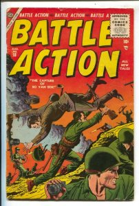 Battle Action #18 1955-Atlas-Russ Heath WWII story-Civil War-WWI-VG