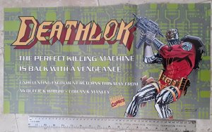 Marvel Comics Deathlok The Perfect Killing Machine 1991 Poster see note