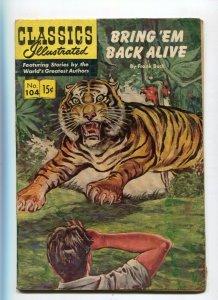 Classics Illustrated  104 VG/VG+ Bring'Em Back Alive