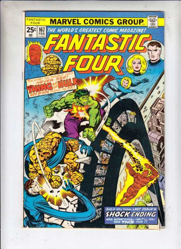 Fantastic Four #167 (Apr-76) VF/NM High-Grade Fantastic Four, Mr. Fantastic (...