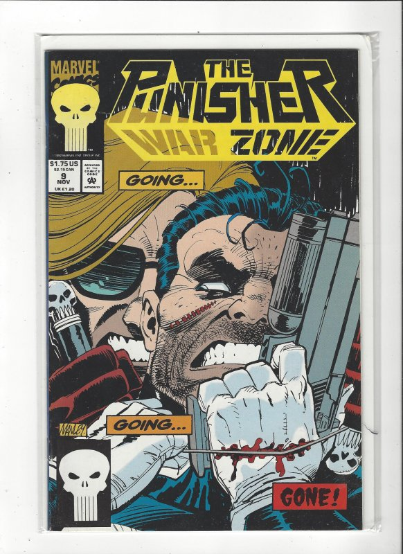 The Punisher War Zone #9 (1992) John Romita Jr. Marvel Comics NM