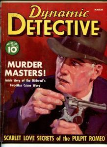 Dynamic Detective Magazine #1 March 1937- Phantom Slashers of the Subway
