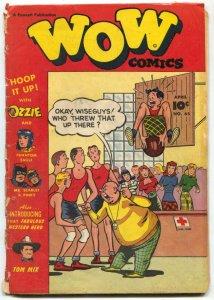 Wow Comics #65 1948- 1st Tom Mix- Black Flamingo LOW GRADE