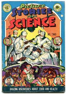 Picture Stories From Science #2 1947- EC comic- demon cover- operation medical