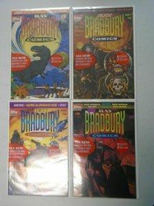 Ray Bradbury Comics run #1-4 8.0 VF (1993 Topps)