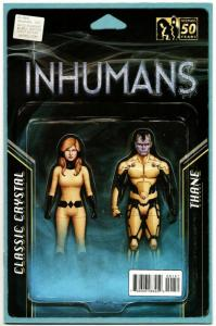 All New Inhumans #1 Action Figure Variant Comic Book (Marvel, 2016) NM