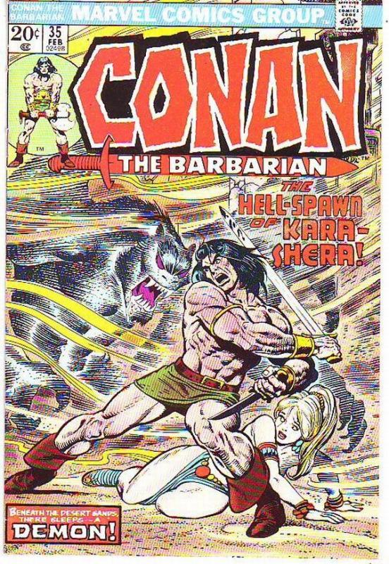 Conan the Barbarian #35 (Feb-74) VF+ High-Grade Conan the Barbarian