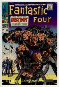 FANTASTIC FOUR #68, FN, Jack Kirby, Destroy the FF, Thing, FN, more FF in store