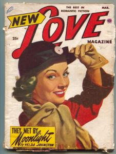 New Love Pulp March 1952- They Met By Moonlight VG