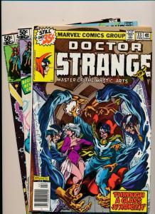 LOT of 3 Comics!  Marvel DOCTOR STRANGE #33,48,49  FINE (PF796)