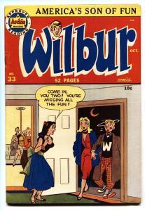 Wilbur #33 1950-Archie Comics-Headlight cover-Katy Keene- FN/VF