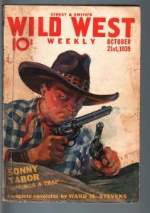 WILD WEST WEEKLY 10/21/1939-WESTERN PULP-SONNY TABOR! G