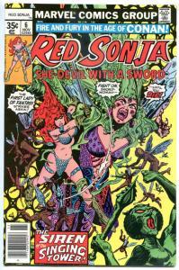 RED SONJA #6, VF/NM, Robert E Howard, She-Devil Sword, Frank Thorne,1977, Marvel
