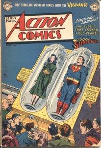 ACTION COMICS #152---1951--VIGILANTE-SUPERMAN-CONGO BILL-TOMMY TOMMY-LOIS LANE