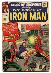 TALES OF SUSPENSE #56 1964-IRON MAN-THE WATCHER-UNICORN G