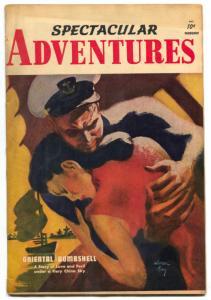 Spectacular Adventures #2 1950- Oriental Bombshell- Slave Girl RARE