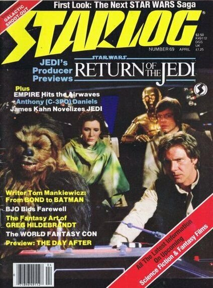 ORIGINAL Vintage 1983 Starlog Magazine #69 Return of the Jedi Preview