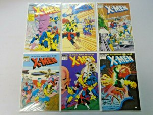 X-Men (1st Series) Near Set #1-7 Missing #6 8.0 VF (1987)