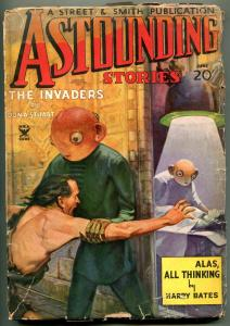 Astounding Stories Pulp June 1935- The Invaders- reading copy