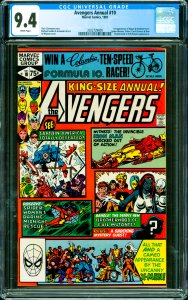 Avengers Annual #10 CGC Graded 9.4 1st appearance of Rogue & Madelyn Pryor. S...