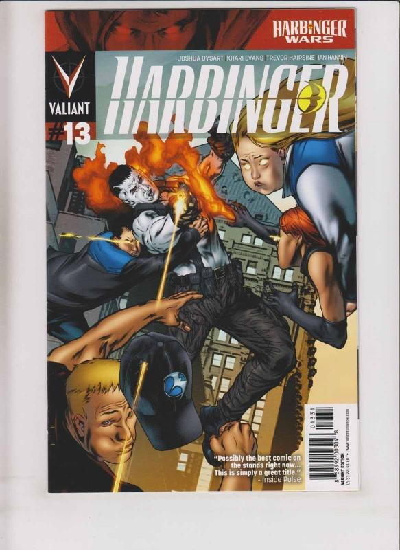 Harbinger #13 VF/NM variant cover - harbinger wars - valiant comics 1:20