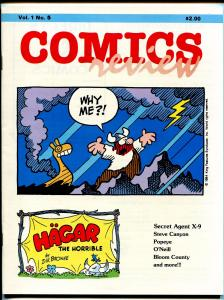 Comics Review #5 1984-Popeye-Bloom County-Hagar-Steve Canyon-VF
