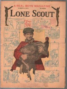 Lone Scout Vol. 8 #6 11/30/1918-A Real Boy's Magazine-5¢ cover price-VG