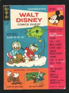 Walt Disney Comics Digest #2 1968-Carl Barks art-Dumbo-Scamp-Mickey & The Bea...