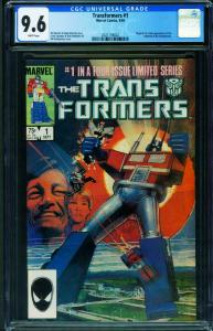 TRANSFORMERS #1 CGC 9.6 comic book 1984  Marvel 2021159002