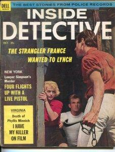 Inside Detective 10/1964-Dell-French Strangler-murder-violence-crime-prison-p...