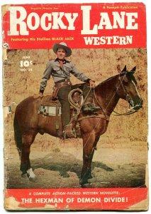 Rocky Lane Western #14 1950- golden age reading copy